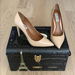 Steve Madden Nude Patent Leather Stiletto Heels